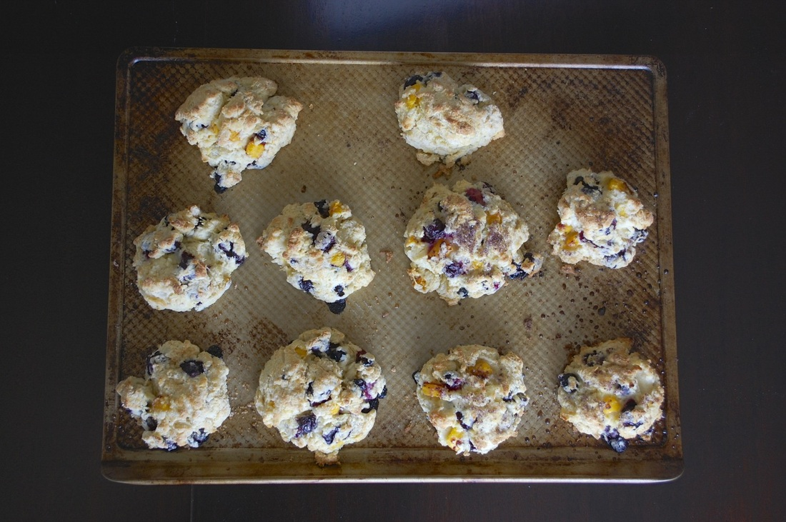 Blueberry Peach Scones